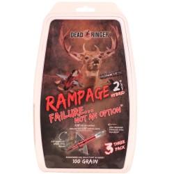 """Dead Ringer DR4699 Rampage 100 Grain 2 Blade (W/ 1.5"""" Blade)"""