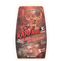 """Dead Ringer DR4705 Rampage 100 Grain 3 Blade (W/ 1.5"""" Blade)"""