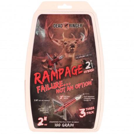 """Dead Ringer DR4712 Rampage 100 Grain 2 Blade (W/ 2.0"""" Blade)"""