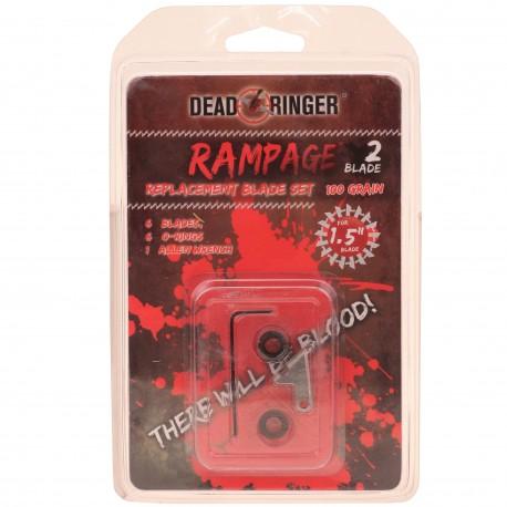 """""""Dead Ringer DR4736 Rampage 100 Gr 2 Blade 1.5"""""""" Blade Rplcmnt"""""""