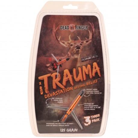 """""""Dead Ringer DR4774 Trauma 125 Grain 2 Blade (3 1/8Th"""""""" Blade)"""""""