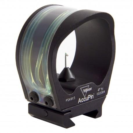 Trijicon BW02G-BL AccuPin Bow Sight/RailGrab Grn./Blk