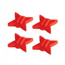 Truglo TG830R Tb String Silencers Red 4Pk